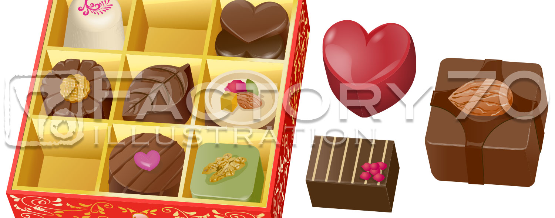 高級チョコレートのイラスト