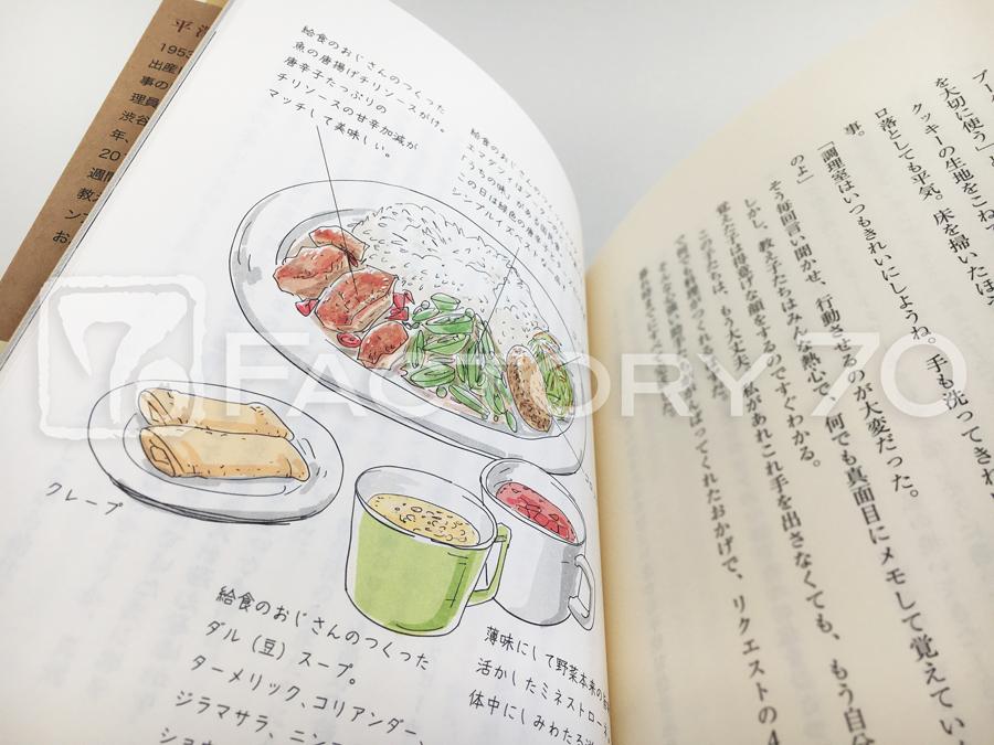 書籍用 料理イラスト制作例 ブータンの料理