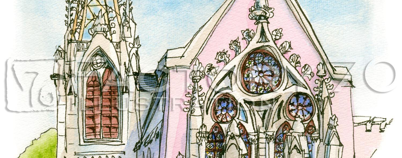 イラスト制作例 建物のイラスト 夙川教会