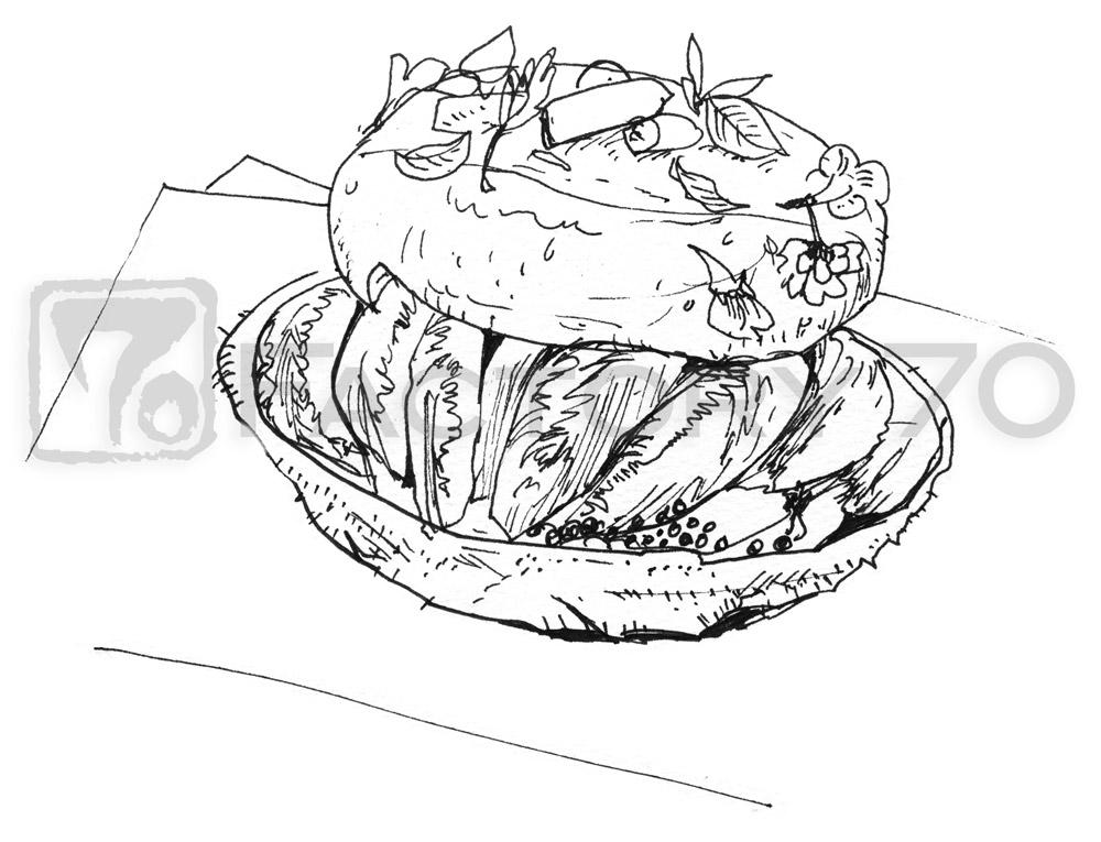グルメイラスト・料理イラスト制作例(和食)